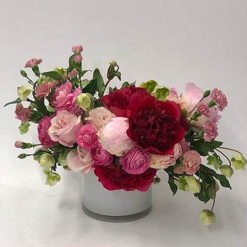 Pink Roses + Ranunculus + Peonies
