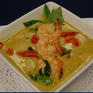 Greem Curry Shrimp