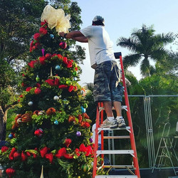 Holiday Decor Corporate Activations available with limited availability