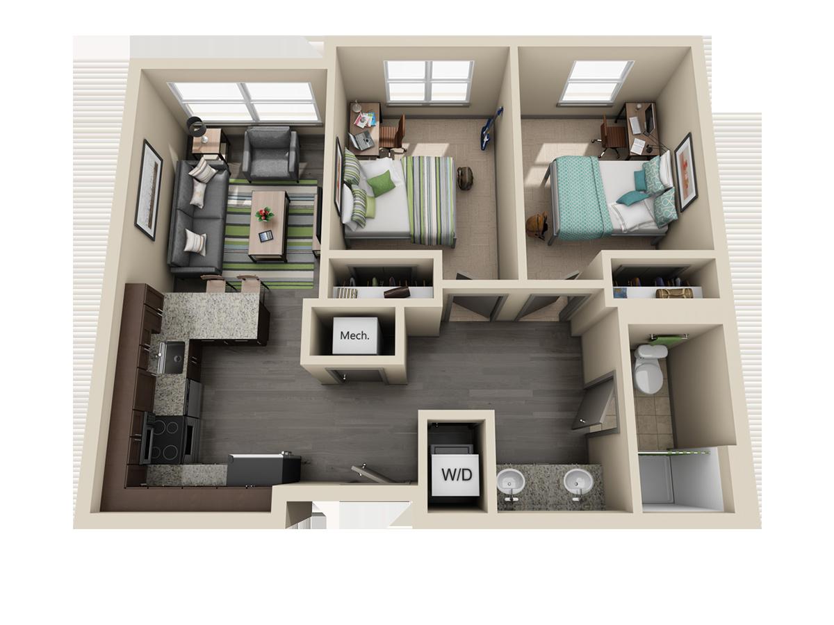Initial Deep 2 Bedroom
