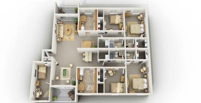 Initial Deep 5 Bedroom