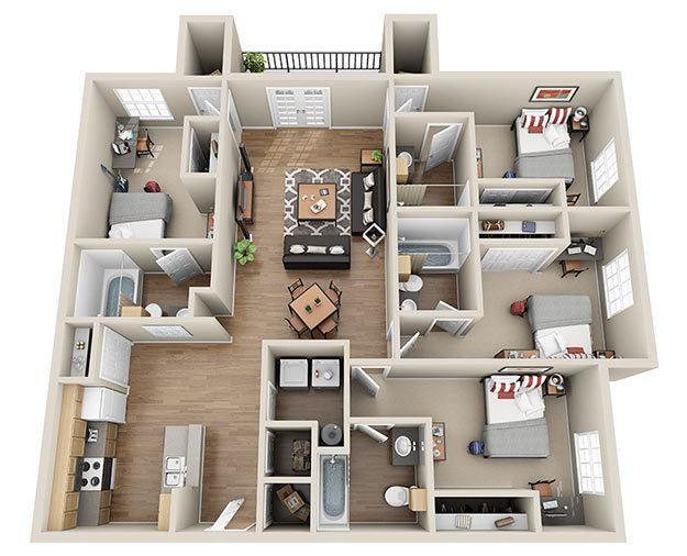Initial Deep 4 Bedroom