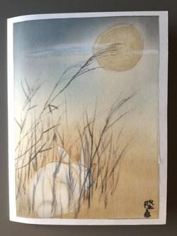 Rabbit and Moon card by Stephanie
