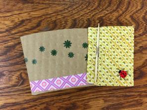 Folding origami cards