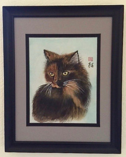 Peanut the cat by Roz