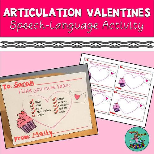 Articulation Valentines
