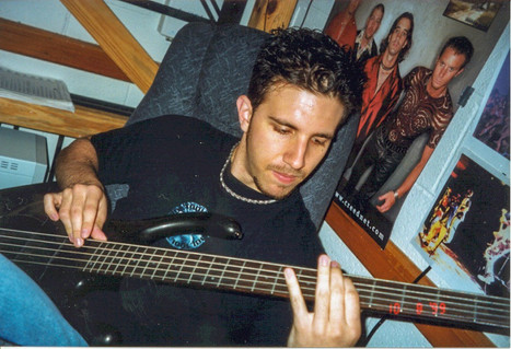 Age 19, Practicing Bass