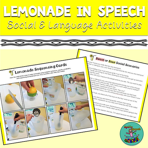 Lemonade in Speech - Social & Language Activities