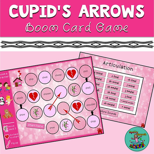Cupid's Arrows: Valentines Speech Boom Board Game