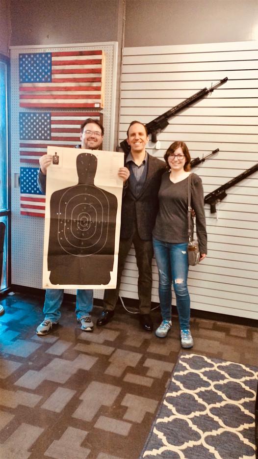 Age 38, Teaching Andy & Megan to Shoot