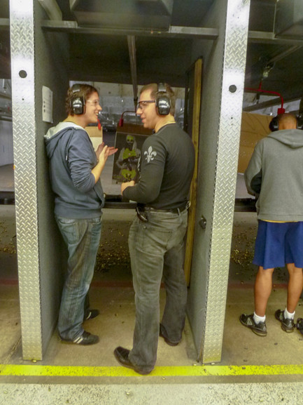 Age 31, Teaching Swiss Visitor to Shoot
