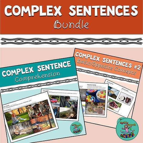 Complex Sentence Comprehension Bundle: Basic / Opposite Concepts, Conjunctions