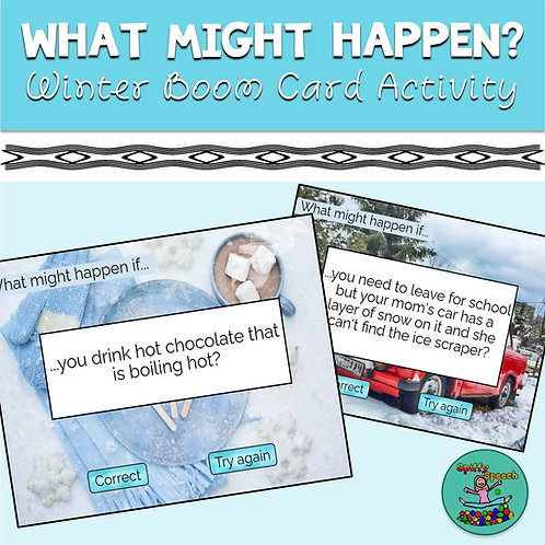 What Might Happen Winter Boom Card Activity