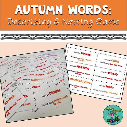 Autumn Words: Describing and Naming Game