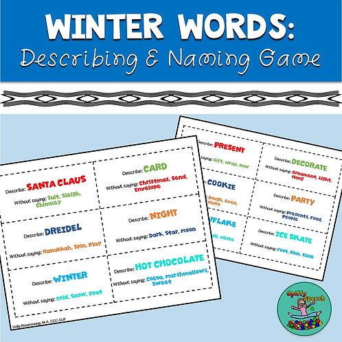 Winter Words Describing & Naming Game