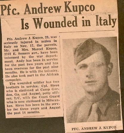 1943, Andrew Kupco