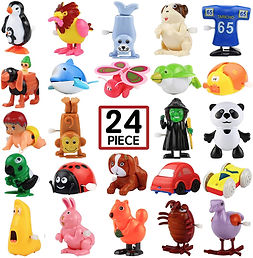 Set of wind-up toys that can be used in speech therapy