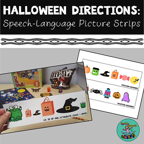 Halloween Directions Picture Strips