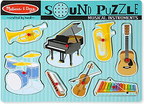 Melissa and Doug sound puzzle with instruments- great toy for speech therapy