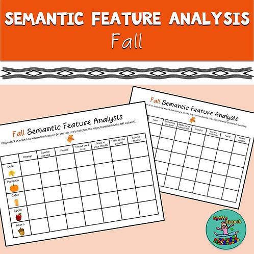 Fall Semantic Feature Analysis