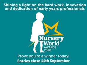 Nursery World Awards deadline extended to 11th September 2020