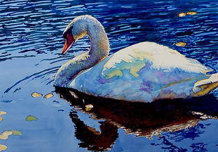 Sunlight Swim Original Watercolor by Brynn Carroll
