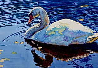 Sunlight Swim Original Watercolor by Brynn Carroll
