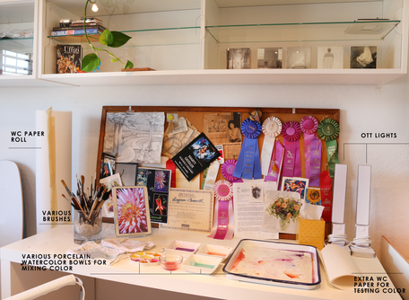 Staying organized in small studio spaces!