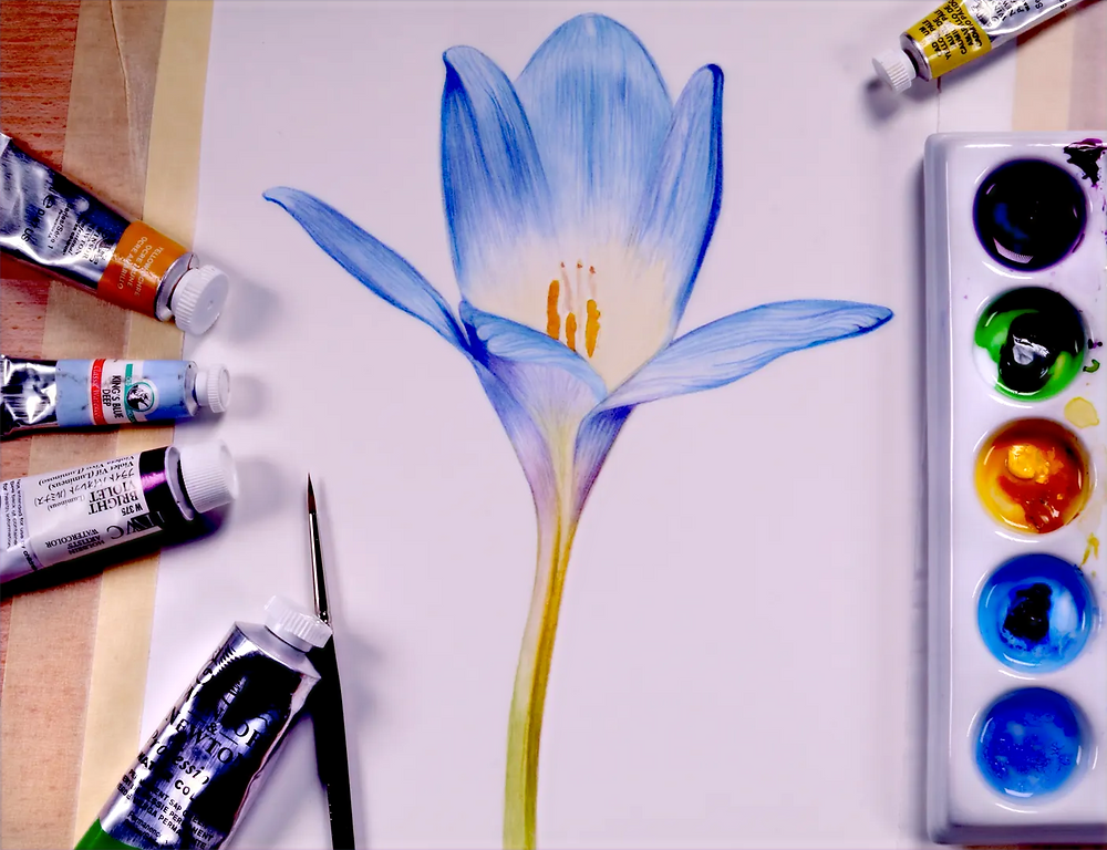 FREE BLUE CROCUS TUTORIAL
