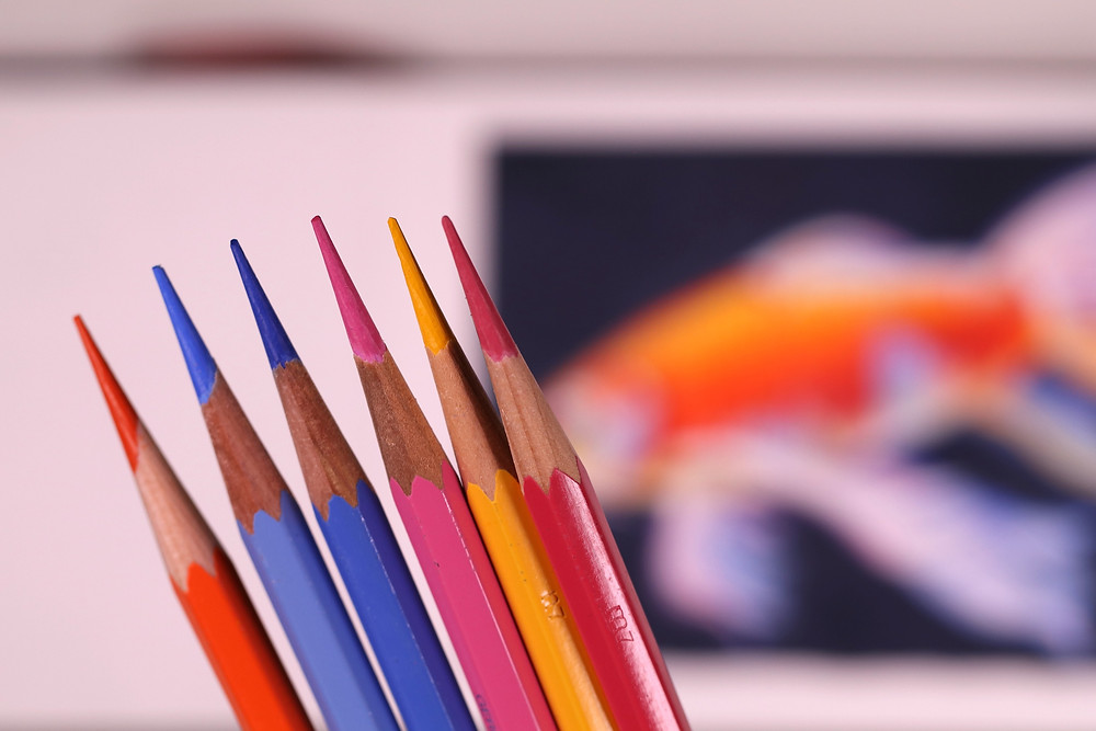Keep watercolor pencils sharp for best results!