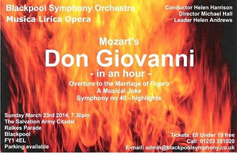 March 2014 flyer Donh Giovanni in an hou
