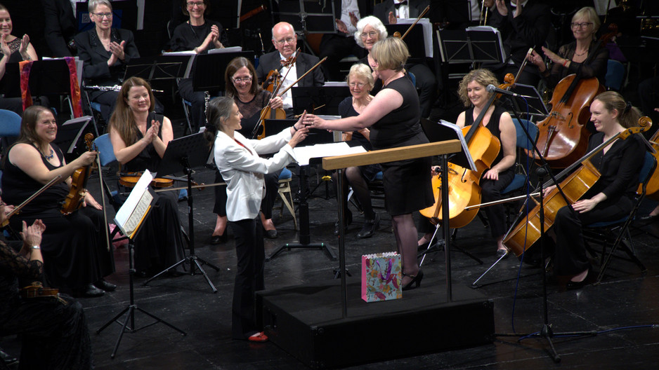 10th Anniversary Golden Baton for Helen Harrison