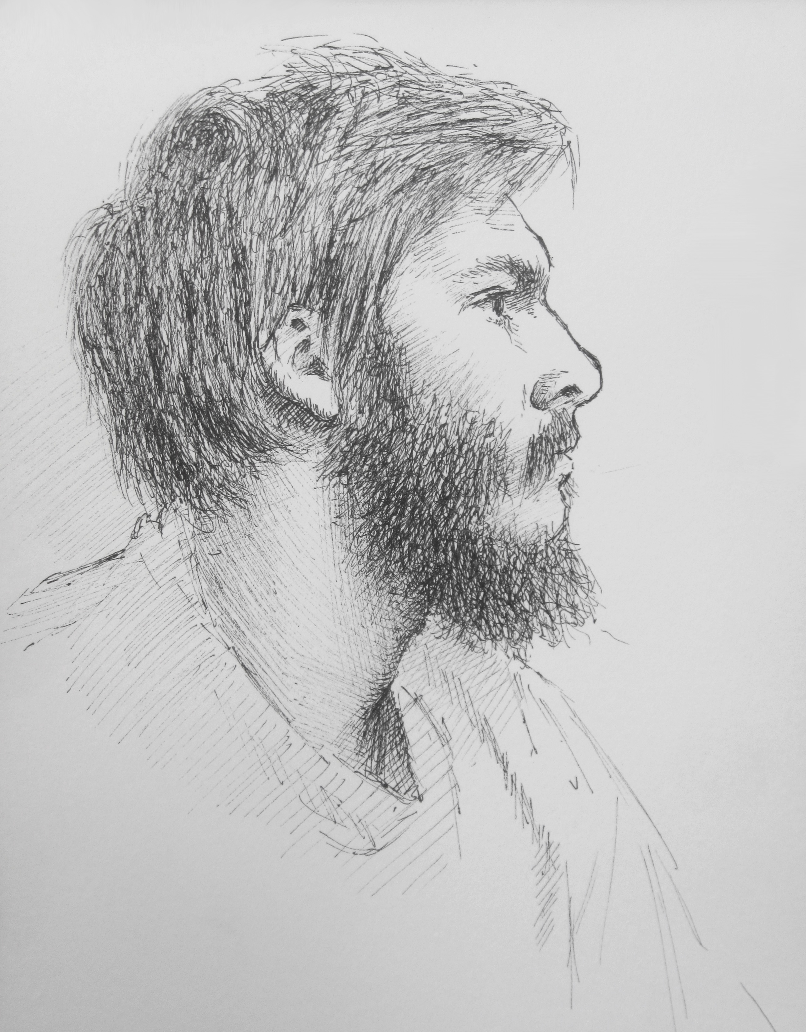Eirik, Central Park Sitting Sketch