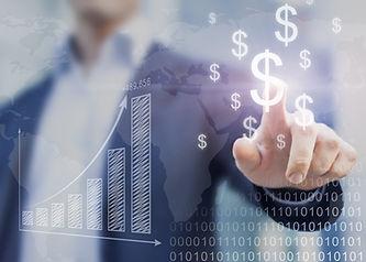 Businessman presenting financial analysi