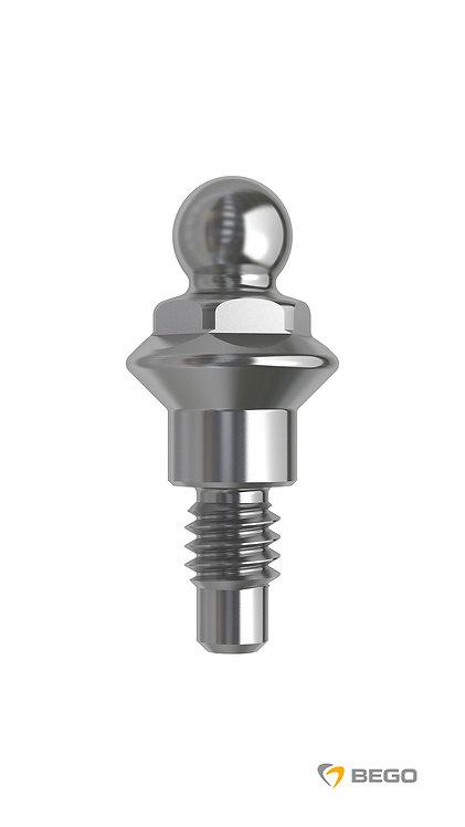 Ball attachment abutment, Sub-Tec ball attachment, GH 0 S/RI 3.25-3.75, 1 unit