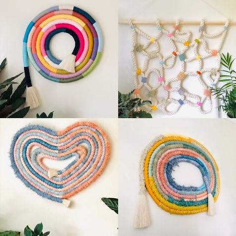 Decorative rope wall hangings
