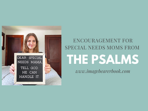 Encouragement for special needs moms from the Psalms