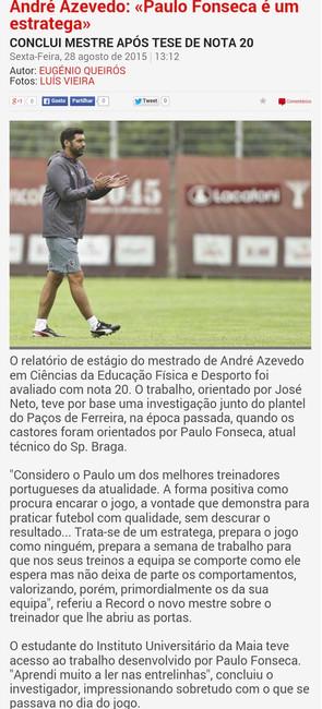 (2015-08-28) Entrevista ao Jornal Record