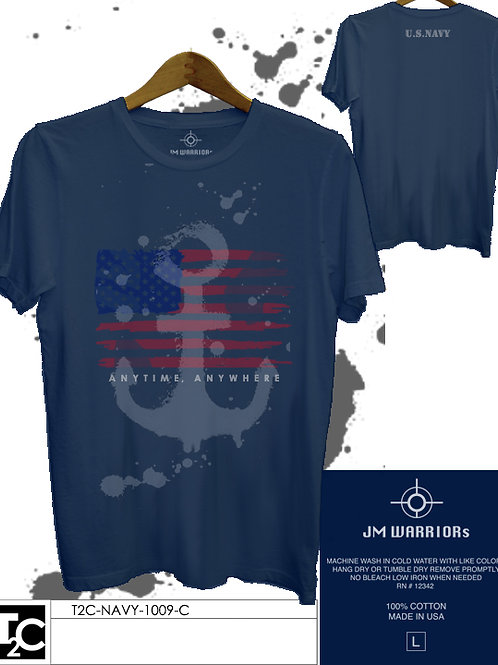 US Navy Color Flag & Anker Shirt