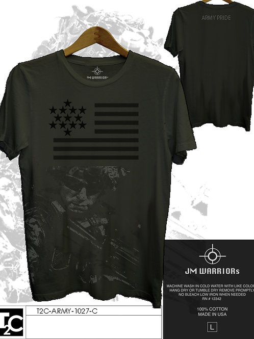 US Army Flag & Soldier Shirt
