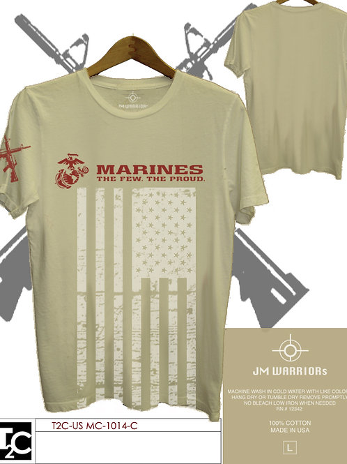 US Marine US Flag Vertical Shirt