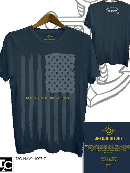 US Navy US Flag Vertical Shirt