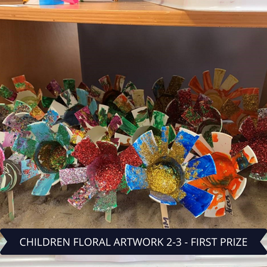 First Prize Childrens Floral Artwork 2-3