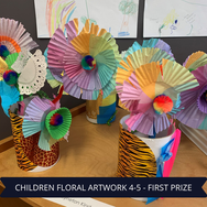 First Prize Childrens Floral Artwork 4-5
