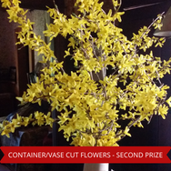 Second Prize Container Vase Cut Flowers.