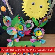 Second Prize Childrens Floral Artwork 4-