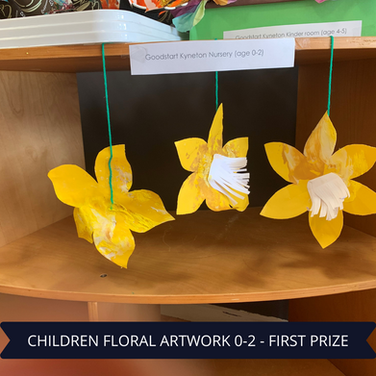 First Prize Childrens Floral Artwork 0-2