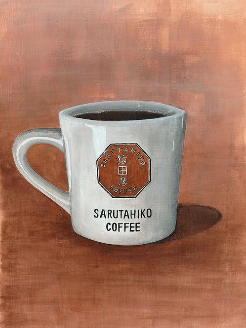 """""""SARUTAHIKO COFFEE"""" (12x16)"""