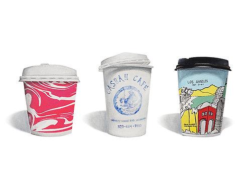 """COFFEE CUPS TRIO"" (13x19)"