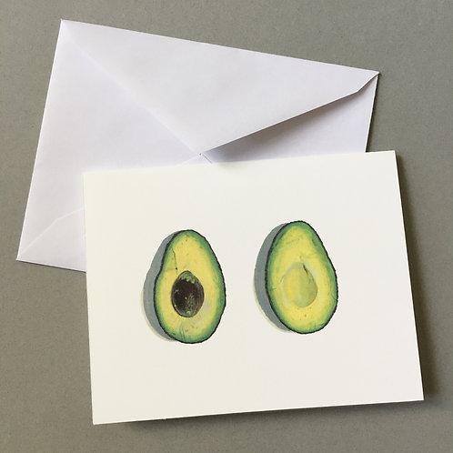 """Avocado"", Blank Card"